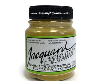 Feather, silk, wool, cashmere and Yarn Dyes - CHARTREUSE Jacquard Acid Dyes - 1/2 Oz : 3734