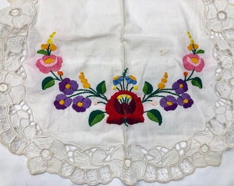 Vintage Embroidered Hungarian Apron, Childs Apron