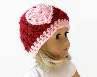 18 Inch Doll Hat - AG Doll Beanie - Valentine's Day Hat - Doll Clothes