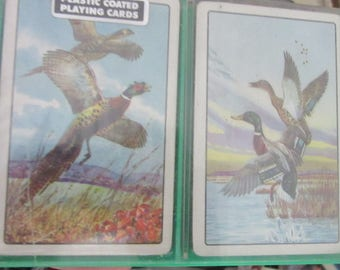 playing cards with water fowl new in box
