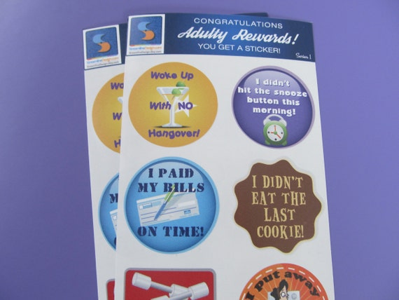 8 adult reward stickers you adulted today congratulations