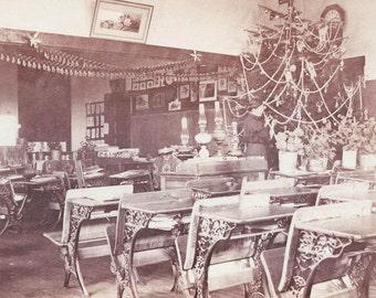 Vintage Photo Card Holiday Christmas Tree for Teacher
