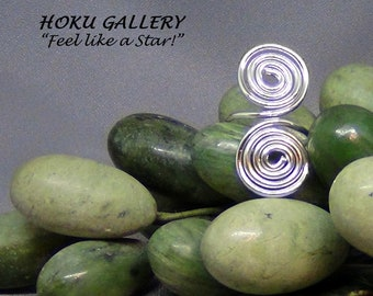 Wire Wrapped, Double Swirl Adjustable Ring - Hand Crafted Artisan Jewelry