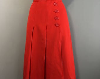 Vintage High waisted  Pleated skirt by Chloe size 8- 10uk