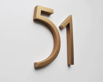 Amazing Aluminium Numbers 4inch (10cm) Bronze, Gold, Black Colors Metal House  Numbers And