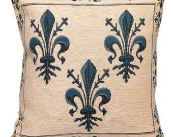 Fleur de Lis Pillow Cover - Fleur de Lis Decor - Fleur de Lis Gift - French Decor - French Accent Pillow - Fleur de Lis tapestry
