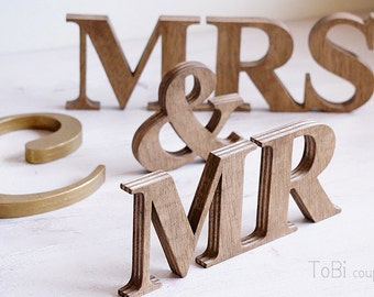 Rustic Wedding Sign Mr & Mrs wooden letters table decor Wedding gift