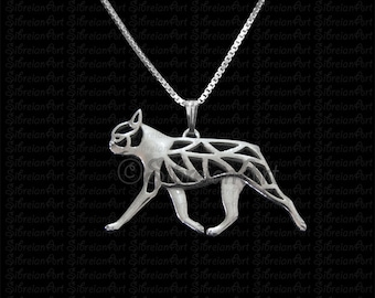 Boston Terrier - sterling silver pendant and necklace