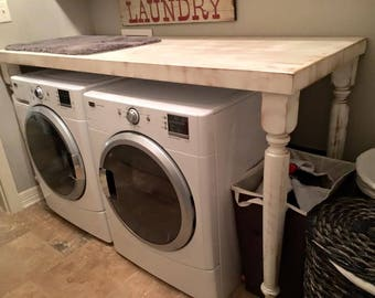 Distressed Laundry Room Folding Table