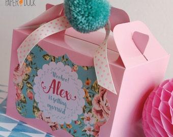 Personalised Birthday Wedding HEN PARTY Favor Box Activity Handmade Pom Pom