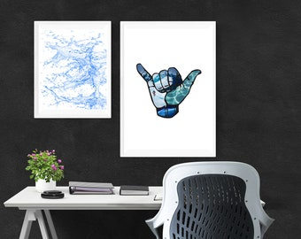 Surf's Up Ocean Art Photo Print