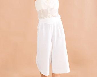 High waist gaucho pants // 80s // S size