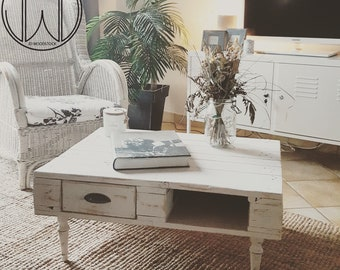 Table basse etsy Table basse palette blanche