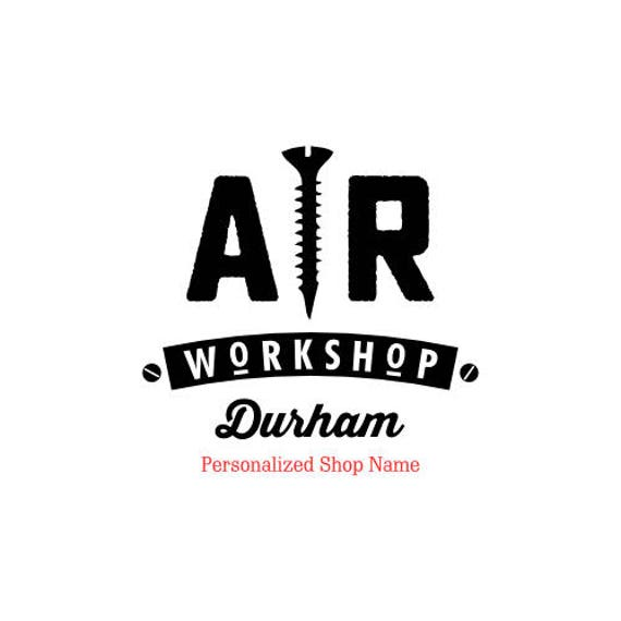 AR Workshop Personalized Shop Name stamp, 3 x 3 in.