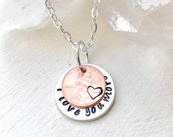 Love you bushel I love you more necklace • I love you gifts for men • I love you best • I love you husband • Love you as big love you I know