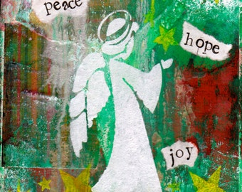 """Peace Hope Joy 5""""x7"""" Blank Christmas Cards with Envelope, Christmas Cards, Holiday Greetings, Wholesale Greeting Cards"""