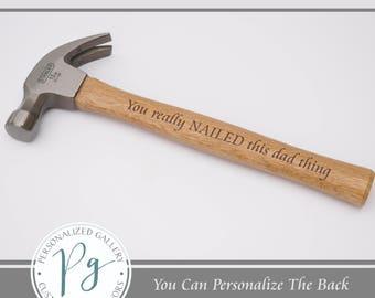 Personalized Hammer - Custom Wood Hammer - Engraved Hammer - Gifts for Handyman - Dads Custom Hammer - Personalized Hammer - Gift For Father