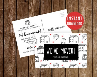 We've moved Postcards Template, Moving Announcement, We Moved Digital Download, Change of Address, We Have Moved, New Address Card New Home