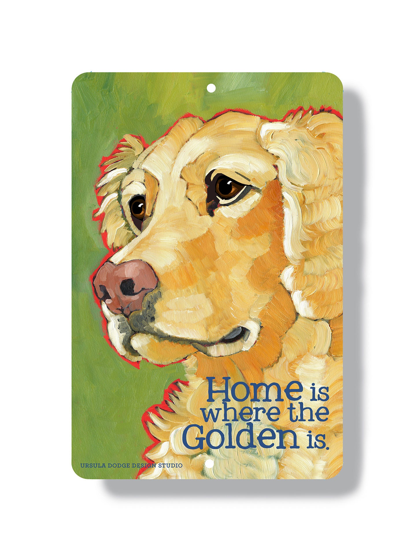 Golden retriever metal sign golden wall art golden home