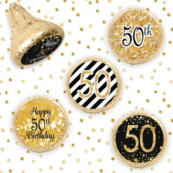 50th Birthday Party Decorations Black and Gold Birthday