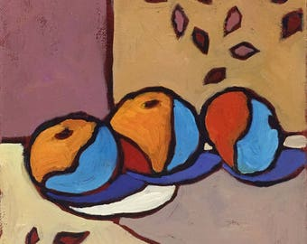 Fruit of Life Abstract Still Life Oil Painting on Canvas