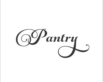 Pantry Decal Pantry Wall Decal Pantry Label Kitchen Wall Decal Pantry Door Decal Pantry Vinyl Decal Kitchen Vinyl Decal