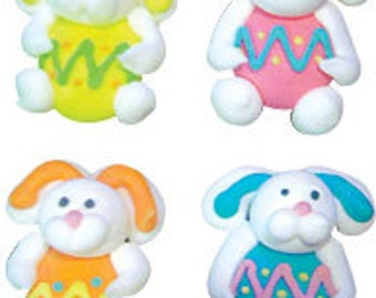 Edible Easter Bunnies with Eggs   Royal Icing  Decorations     Simply Darling