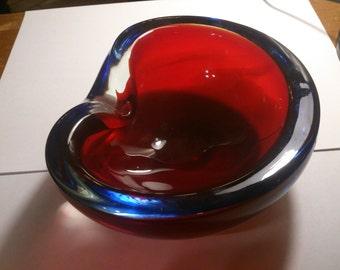 murano glas aschenbecher 50er jahre
