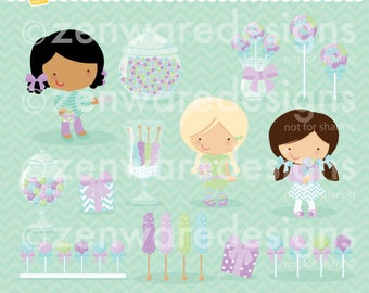Purple or Lilac Candy Buffet Clipart