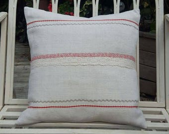 Vintage French Linen Cushion Cover