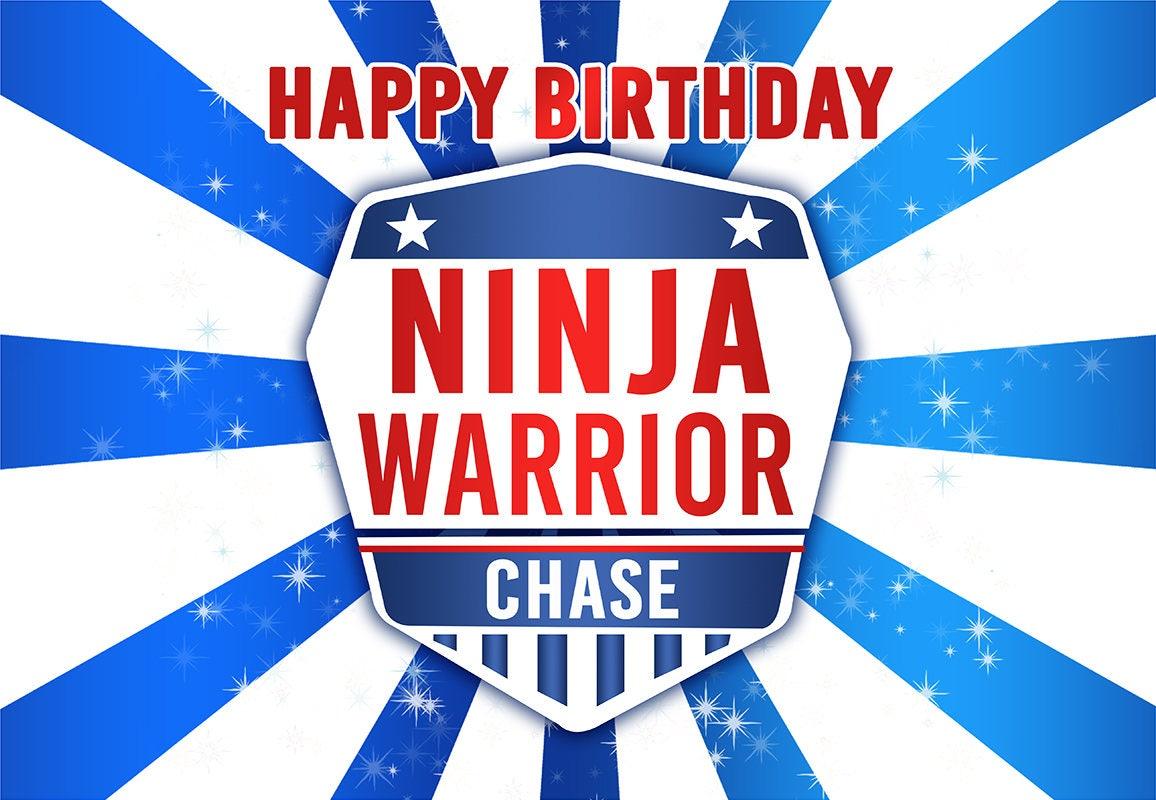 Ninja Warrior Party Edible Cake Topper File Ninja Warrior