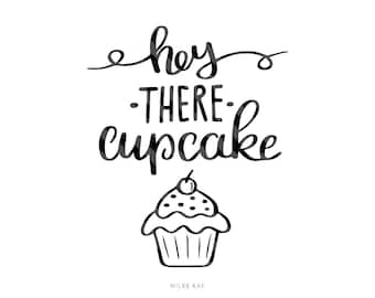 Cupcake svg file, Quote,  Handlettered, Svg, Cut file, Cutting file, Cricut, Silhouette, Commercial use, Mug SVG, Svg monogram, svg font