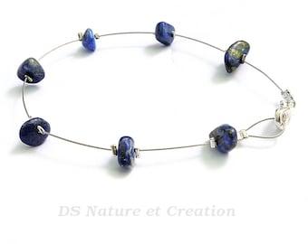 Bracelet lapis lazuli, bijou pierre naturelle, bracelet chic minimaliste, bijou lapis lazuli, bracelet pierre gemme, bijou chic simple, laya
