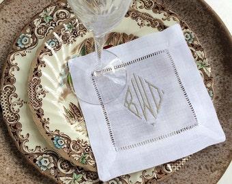 monogrammed napkins monogrammed linens