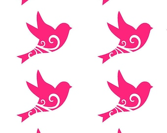 birds set of 8 wall stickers. furniture can choose colors