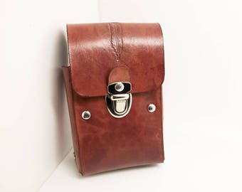case cigarette or playing leather cards package
