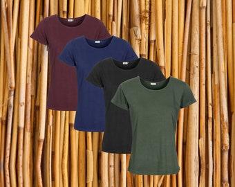 Pack of 4, Ladies Organic cotton & Bamboo T-Shirt