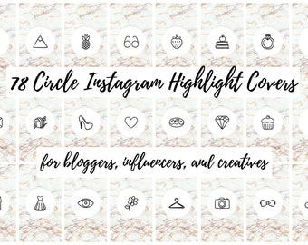 Instagram Story Highlight Cover Icons - 78 Gold Marble Circle | Fashion, Beauty, Lifestyle, Decor, Craft, Handmade, Bloggers, Influencers