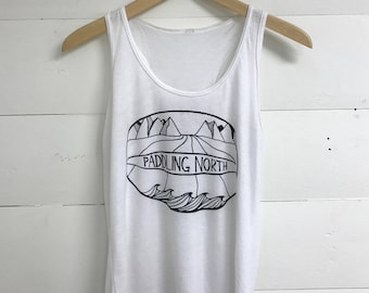 Paddling North - Triblend Racerback Tank
