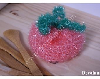Zero waste with this sponge peach shaped eco tawashi