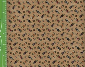Kansas Troubles, Tan ,w/ rust,gold flowers 9054-11