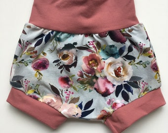 Harem Shorts - Watercolour Floral