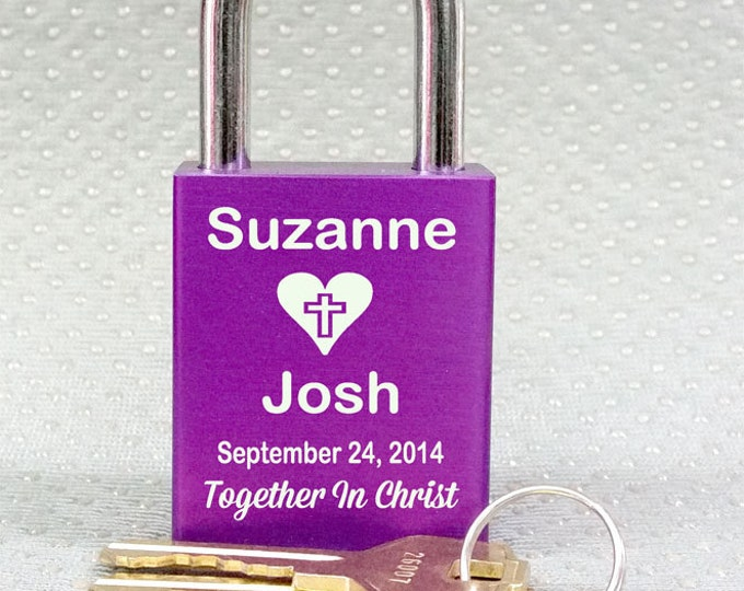 NokNoks LOVE LOCK  Christian  Theme Personalized Padlock,  Marriage, Proposal, Wedding