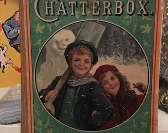Vintage Children's Book - Chatterbox 1912