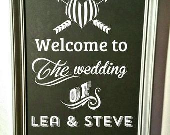 Framed Blackboard - Wedding & Event Décor