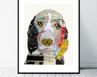 spaniel dog .spaniel dog portrait.colorful pop dog art.dog art prints.dog art decor.dog portraits.giclee fine art prints.
