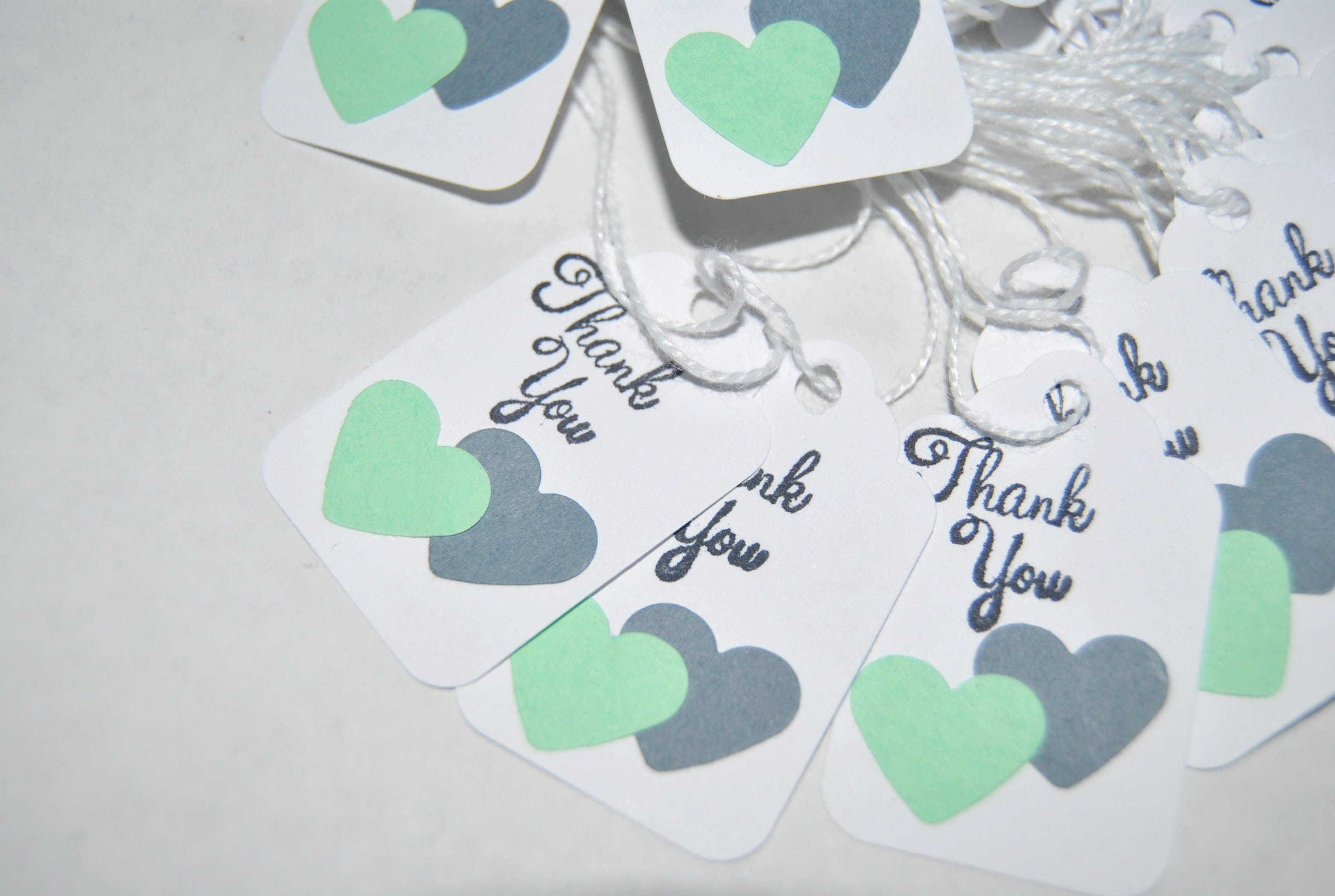 Wedding Favor Tags Two Hearts Become One Thank You Tags