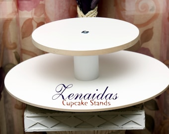 White Melamine Cupcake Stand Cupcakes 2 Tier Square Cupcake Tower Display Stand Birthday Stand DIY Project