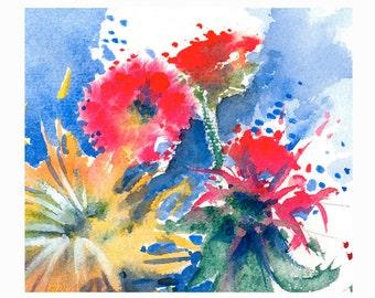 Color Energy 2 Original Watercolor Painting