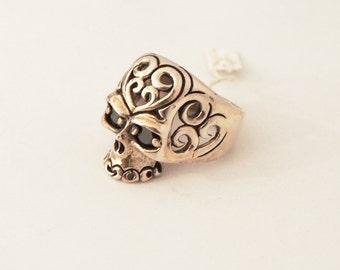 925 Sterling silver  Tribal Skull Knight ring